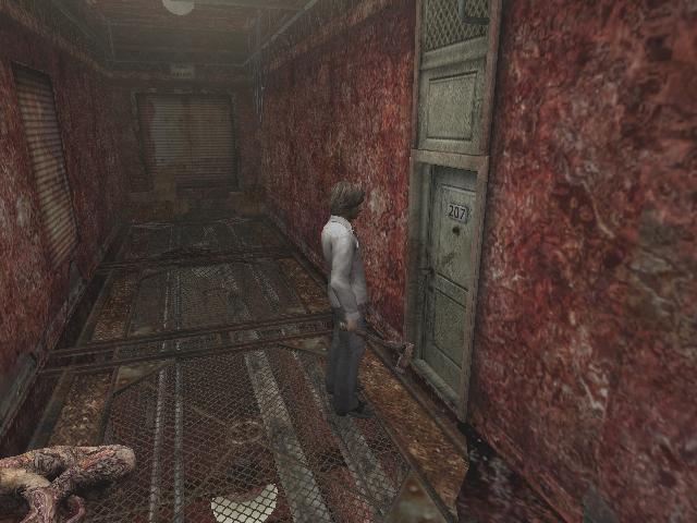 Le monde des ténèbres dans Silent Hill 4 est façonné de murs en chair crue et semble avaler le joueur